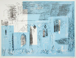John Piper Signed Lithograph St Margaretand039s Church Lewknor Oxfordshire 1964