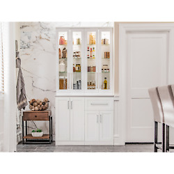 Home Wine Bar Cabinet 5-piece Set With Tall Wall Cabinets By Newage Products