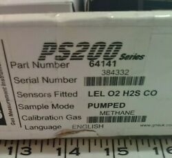 Gmi Ps200 Series 64141 Lel O2 H2s Co Pumped For Testing Methane Gas
