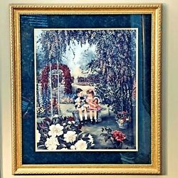 """Stunning """"secret Garden"""" By Glynda Turley Painting Print Signed,numbered,framed"""