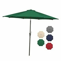 9 Ft Patio Umbrella Outdoor Table Market Umbrellas With 8 9 Ft Forest Green