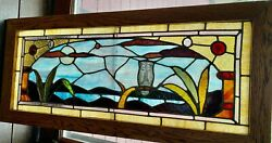 Wise Old Owl Stained Glass Window