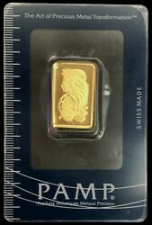 Pamp Suisse Gold 10 Grams Fortuna Bar Sealed In Assay Card
