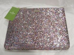 NWT Kate Spade New York Multi Color Glitter Gia Pouch Clutch $49.95