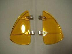 Vintage Style Amber Breezies Amber Wing Window Air Deflector Wind Deflector