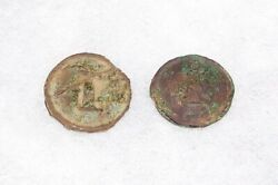 2 Relic Civil War Dug Confederate Infantry Buttons From Campsite, Tennessee