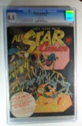 All Star Comics 18 Fall 1943 Cgc 4.5 Frank Harry Giant Insect Hawkman Cover
