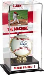 Albert Pujols La Angels Signed Baseball And 5th On All-time Hr List Display Case