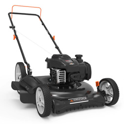 Walk Behind Push Mower 21 In. 140 Cc Gas 2-in-1 Cutting System Pull Cord Start
