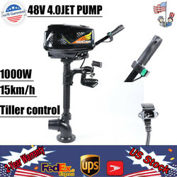 Brushless Motor Electric Outboard Motor 4.0 Jet Pump Boat Engine 1000w 15km/h Us