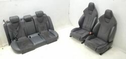 2010-2012 Audi S4 Seats Black Leather And Alcantara Suede Front Rear Seat Set