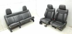 2010 Ford F150 Raptor Black Leather Seats Front Rear Seat Set W/ Console