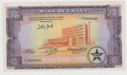 Ghana 5 Pounds Dated 1958 Specimen Note P3s2 About Uncirculated