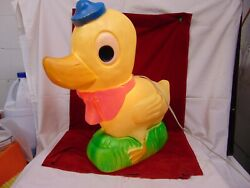 Vintage Union Easter Duck Blow Mold Lawn Decoration Don Featherstone