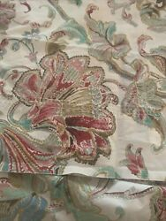 2 Floral Pillowcases Standard Small Cream Pink Red Green