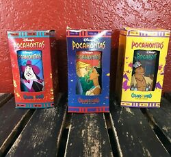 Vintage Disney Pocahontas Burger King Colors Of The Winds Collectible Cup Lot 3