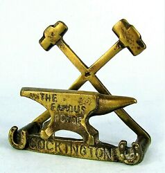Cockington Forge Vintage Brass Anvil And Hammers Figural Letter Holder Paperweight