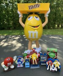 Yellow Mandm Character Large Candy Store Display With Storage Tray Bundle Local Pu