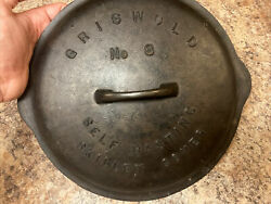 Griswold Cast Iron No. 8 Self Basting Skillet Cover Lid Only 468 A. Large Logo