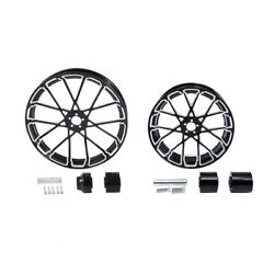 21 Front 18'' Rear Wheel Rim And Hub Fit For Harley Electra Road King Glide 08-21