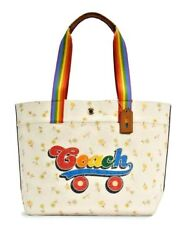 🌈🛍️ Coach Tote With Rainbow Roller Skate Graphic C4099 278 Nwt