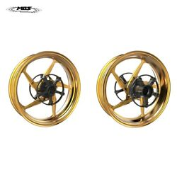 Forged Aluminum Alloy Wheels Rims For Yamaha Tmax 530 / 560 2017 - 2021 Gold