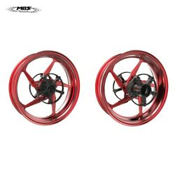 Forged Aluminum Alloy Wheels Rims For Yamaha Tmax 530 / 560 2017 - 2021 Red