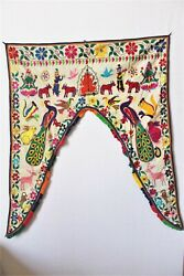Handmade Toran Gate Topper Door Hanging Embroidered Valance Indian Traditional