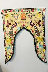 Indian Handmade Embroidered Toran Gate Topper Door Hanging Valance Traditional