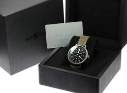Bell And Ross Vintage Automatic Men's Watch Military Ww1-92-s Black Dial Boxed