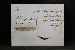 Michigan Plainwell 1850 Stampless Cover, Ms, 10c Rate, Allegan Co