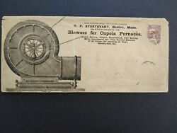Ma: Boston ca.1869 #113 Cupola Furnace Blowers Legal Size Advertising Cover