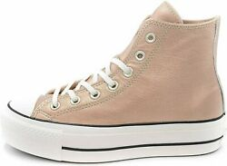 Converse Womenand039s Platform Lift Sneakers Particle Beige Snow White 6