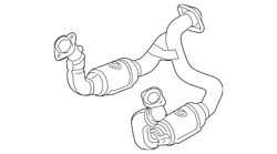 Genuine Ford Catalytic Converter Kc3z-5f250-a