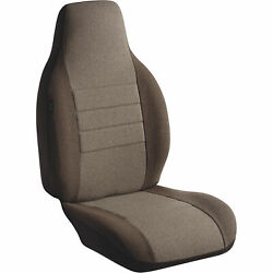 Fia Freightliner High Back Bucket Seat And Armrest Covers — Taupe Single Bucket