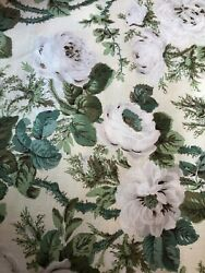 Cowtan And Tout Moss Rose Linen, Discontinued Pattern, New, 7.25 Yards X 54-56