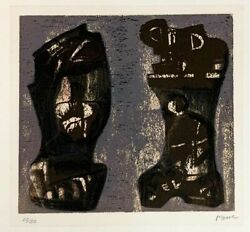 Henry Moore Ideas For Metal Sculpture V Original Lithograph S/n
