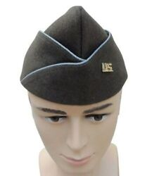 Wwii Ww2 Us Paratrooper Wool Garrison Cap In Sizes And Us Army Officer Insignia