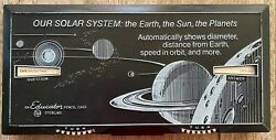 Vintage Sterling No 562 Educator Pencil Case Box Our Solar System