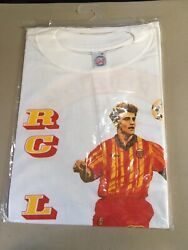 Rare Maillot Tshirt Rc Lens Vintage Coupe Europe Football Foot 1994 Classic Tee