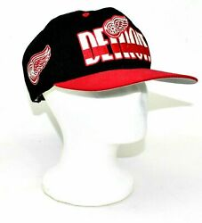 Vintage Detroit Red Wings Ccm Snapback Hat Nhl Hockey Embroidered Baseball Cap