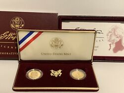 1999 Washington Commemorative Proof And Uncirculated Gold Five Dollar 2-coin Set