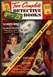 Two Complete Detective Books Pulp 12 1941- The White Wolf