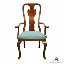Drexel Heritage Solid Cherry Traditional Queen Anne Style Dining Arm Chair 12...