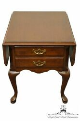 Thomasville Furniture Collectors Cherry Drop-leaf Accent End Table 10131-220