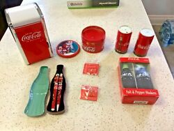 Coca Cola- Assorted Items-candle-napkin Holder- Pen Set Not Working Plus More
