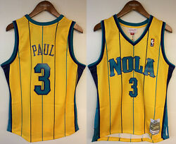 Chris Paul New Orleans Hornets Nola Mitchell And Ness Nba 2010-11 Authentic Jersey