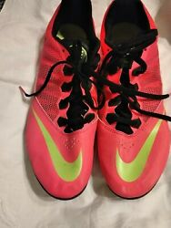 Nike Zoom Rival S7 Track Running Sprint Shoe Pink Green No Spikes Laces Mens 10