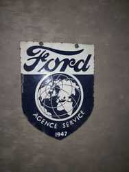 Porcelain Ford 1947 Enamel Sign 24 X 18 Inches Double Sided