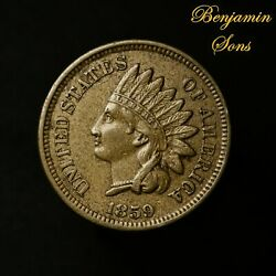 1859 Indian Head Cent 1c Penny, 061921-28 Free Shipping